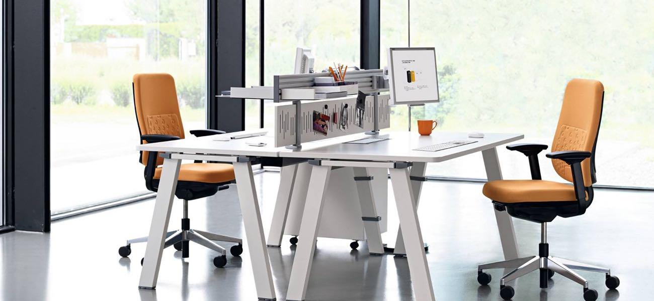 fusion, mesa, oficinas, mobiliario